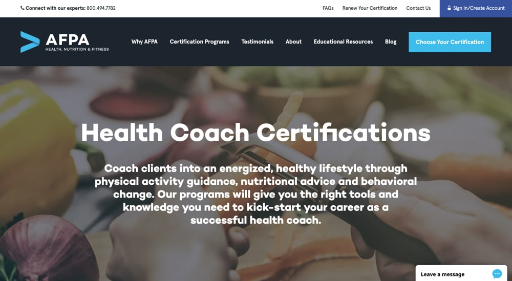 AFPA Health Coach