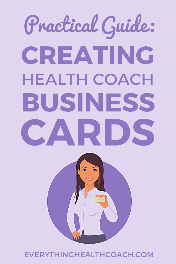 Practical Guide: Creating Health Coach Business Cards