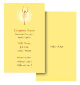 Health Coach Business Card Ideas - Example 2