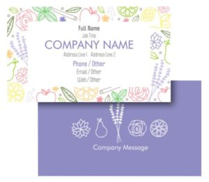 Health Coach Business Card Ideas - Example 3