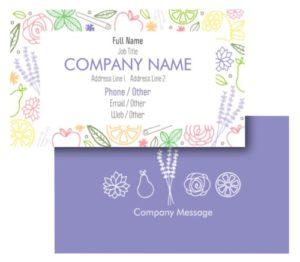 Health Coach Business Card Ideas - Example 3