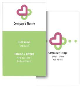 Health Coach Business Card Ideas - Example 6