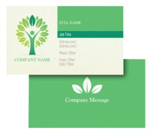 Health Coach Business Card Ideas - Example 7