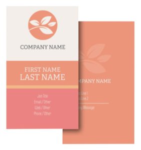 Health Coach Business Card Ideas - Example 9
