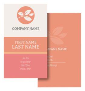 Health Coach Business Card Ideas - Example 9