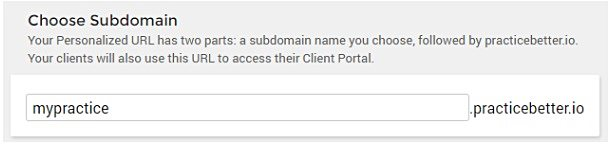 Practice Better - Subdomain