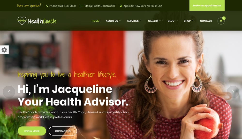 Health Coach By ThemeKalia